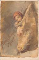 RUSSISCHE KÜNSTLERKARTE, Mädchen Im Sack, Rote Kreuz - Künstlerkarten