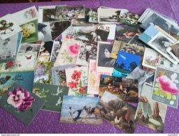 Déstockage - Lot De 150 Cartes Fantaisie - Femmes, Fleurs, Animaux, Illustrations...Lot N° 3 - 100 - 499 Cartes