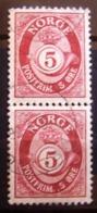 Paire Timbres Oblitérés. Norvège - Série Courante, Cor Postal. 1962 - Y.T. N° 435. - Oblitérés