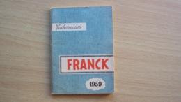 ALMANACCO AGENDA VADEMECUM CAFFÈ CAFFE' FRANK ANNO 1959 - Vecchi Documenti