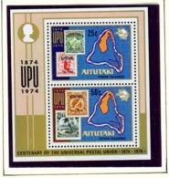 AITUTAKI  -  1974 UPU Miniature Sheet Unmounted/Never Hinged Mint - Aitutaki