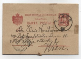 Romania Buzeu Buzen POSTAL CARD TO Austria 1903 - 1881-1918: Charles I