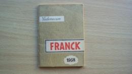 ALMANACCO AGENDA VADEMECUM CAFFÈ CAFFE' DI CICORIA FRANK ANNO 1958 - Vecchi Documenti