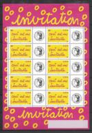"France 2004 Bloc Feuillet Personnalisé N° F3636A Neuf ""invitation"" Cote 50 Euros - Francia"