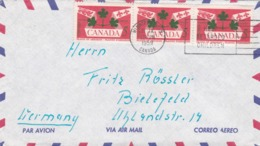 BUSTA VIAGGIATA  BY AIR MAIL - CANADA - WINNIPEG   - VIAGGIATA PER BIELEFELD ( GERMANIA) - 1952-.... Regno Di Elizabeth II