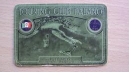TESSERA VECCHIA DEL TOURING CLUB ITALIANO SEZIONE TRIESTE - Vecchi Documenti