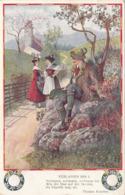 VERLASSEN BIN I, Künstlerkarte Thomas Koschat, Seltene Frankierung, Gel.1916 - Künstlerkarten