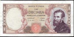 ITALIA 10000 LIRAS AÑO 1962 MICHELANGELO USADO BUEN ESTADO - 1000 Lire