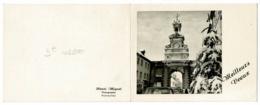 """Carton Double 10.5 X 13.5 Cm, Photo Collée Henri Mignot """" Porte Saint Pierre Pontarlier"""" - Meilleurs Voeux - Circ 1967 - Pontarlier"""