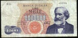 ITALIA 1000 LIRAS AÑO 1962 G. VERDI USADO - [ 2] 1946-… : Republiek