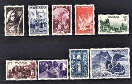 MONACO 1944  - SERIE -  Y.T. Du N° 265 A 273 - 9 TP NEUF** /10 - Neufs