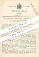 Original Patent - Forestier Geb. Moulon , Molenbeck Saint Jean , 1887 , Ventil | Wasserhahn , Klempner !!! - Historische Dokumente