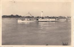 DAMPFER BUDAPEST Stempel Spitz A.d. Donau, Gel.1938, Marke Mit Randstück, Gebrauchsspuren - Paquebots
