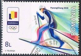 2018- ROMANIA - OLIMPIADI INVERNALI DI PYEONGCHANG / WINTER OLYMPIC GAMES IN PYEONGCHANG - USATO / USED - 1948-.... Repubbliche