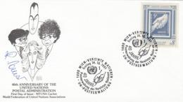 VEREINTE NATIONEN WIEN UNICEF FDC BRIEF 1991 - 5 Cent + 8 Schilling - FDC