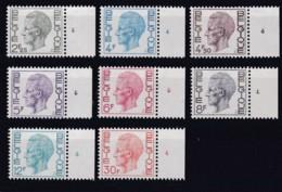 Belgie Plaatnr  COB** 1642-1649 Fos 4 - Numéros De Planches