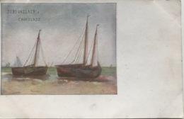 (1235) Debeukelaer's Chocolade - Schilderij Van Twee Boten - Publicité