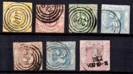 Tour Et Taxis Sept Bonnes Valeurs Oblitérées 1851/1867. B/TB. A Saisir! - Thurn Und Taxis