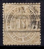 Conf. Allemagne Nord YT N° 22 Oblitération Authentique. Rare.  A Saisir! - Norddeutscher Postbezirk