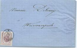 Brief (Rechnung) - Mi 17a - Peter Reding, Sohn, Samen-Handlung, Diekirch 20-05-1871 Nach Weiswampach - 1859-1880 Armoiries