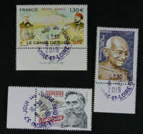 France 2019 Mahatma Gandhi- Canal De Suez-Alexandre Varenne Oblitéré - Oblitérés