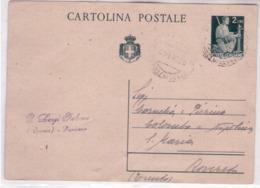 I.P. Di Luogotenenza Da L 2 Senza Francobolli Aggiuntivi Da Passirano(BS) 1/1/47 K233 - Marcophilia