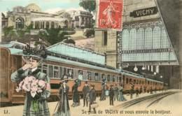 JE PARS DE VICHY ET VOUS ENVOIE LE BONJOUR - Vichy
