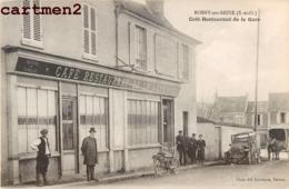 ROSNY-SUR-SEINE CAFE RESTAURANT DE LA GARE J. VINEL PUBLICITE AU DOS 78 YVELINES - Rosny Sur Seine