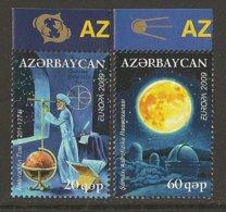 """AZERBAIJAN /ASERBAIDSCHAN / AZERBAYCAN - EUROPA 2009  - TEMA  """"ASTRONOMIA"""" - SERIE De 2 V. - Europa-CEPT"""