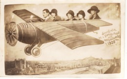 """Avion Photo Trucage  Avec Personnages """" Souvenir De L'Exposition Des Arts Décoratifs 1925 """" - Aviation"""