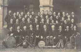 38 ISERE Carte Photo Du Groupe De Musique De L'Ecole Nationale Professionnelle 1921 De VOIRON - Voiron