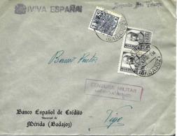 Mérida (Badajoz) A Vigo 1938, Móviles, Al Dorso Llegada. Censura. Guerre D'Espagne Ver 2 Scan - Emissions Nationalistes