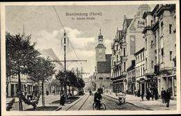 Cp Brandenburg An Der Havel, St. Annen Straße, Geschäfte, Radfahrer - Germania