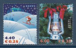 Estland 2006. Merry Christmas. 2 W. MNH. Pf. - Estland