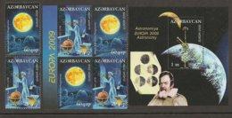 """AZERBAIJAN /ASERBAIDSCHAN / AZERBAYCAN - EUROPA 2009  - TEMA  """"ASTRONOMIA"""" - SERIE + BLOC CARNET + HOJITA BLOQUE - Europa-CEPT"""