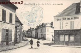 CHAMPLAN CACHET MILITAIRE DU 232e REGIMENT D'INFANTERIE PALAISEAU ETUDES DES T.M. GUERRE RUE DE PARIS - Zonder Classificatie