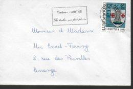 LUXEMBOURG Lettre  1981 Caritas  Armoiries Larochette - Briefe U. Dokumente
