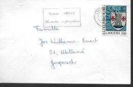LUXEMBOURG Lettre  1982 Caritas  Armoiries Larochette - Briefe U. Dokumente