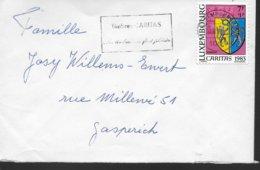 LUXEMBOURG Lettre 1983  Caritas  Armoiries Beckerich - Briefe U. Dokumente
