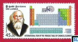 Sri Lanka Stamps 2019, Periodic Table Of Chemical Elements, Russian, Russia, MNH - Sri Lanka (Ceylon) (1948-...)