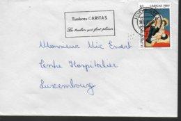 LUXEMBOURG Lettre 1980  Caritas  Vierge Tableaux - Christentum