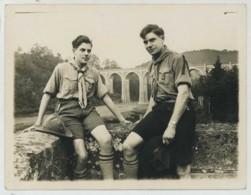 Pierre Compagnon Scout . Pont De Conques (Herbeumont) 1937 . Scoutisme . Compagnons De France . Education Spécialisée . - Personnes Identifiées