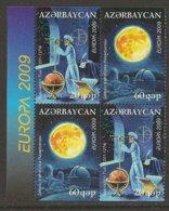 """AZERBAIJAN /ASERBAIDSCHAN / AZERBAYCAN - EUROPA 2009  - TEMA  """"ASTRONOMIA"""" - DOS SERIES De 2 V. DEL CARNET - Europa-CEPT"""