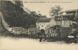 TONKIN , Porte De Chine à Nam-Quan , CPA ANIMEE - Viêt-Nam