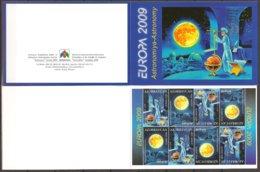 """AZERBAIJAN /ASERBAIDSCHAN / AZERBAYCAN - EUROPA 2009  - TEMA  """"ASTRONOMIA"""" -  CARNET - Europa-CEPT"""