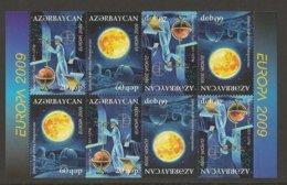 """AZERBAIJAN /ASERBAIDSCHAN / AZERBAYCAN - EUROPA 2009  - TEMA  """"ASTRONOMIA"""" -  HOJA BLOQUE DEL CARNET - Europa-CEPT"""