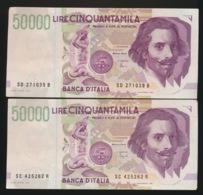 2 X 50000 LIRE - [ 2] 1946-… : Repubblica