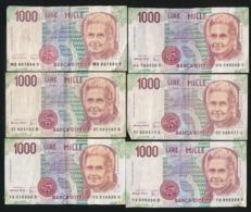 6 X 10000 LIRE - [ 2] 1946-… : Republiek