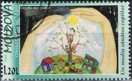 2009 - MOLDAVIA / MOLDOVA - PROTEZIONE DELL'AMBIENTE - DISEGNI DI BAMBINI / ENVIRONMENTAL PROTECTION - USATO / USED - Moldova