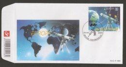 "BELGICA / /BELGIUM /BELGIQUE / BELGIE - EUROPA 2009  - TEMA  ""ASTRONOMIA"" -FDC Del SELLO  Procedente De La Hojita Bloque - Europa-CEPT"